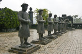 Stone Mandarin Honor Guards at Tomb of Khai Dinh, Hue, Vietnam. — Stock Photo