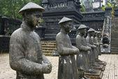 Stone Mandarin Honor Guards at Tomb of Khai Dinh, Hue, Vietnam. — Stock Photo
