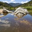 Stock Photo: Landscape with rvwer Snowy in Mt Kosciuszko national park, New S