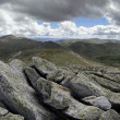 View from Mount Kosciuszko in the Snowy Mountains, New South Wal — Stock Photo