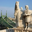 Monument of first Hungariking Ishtvav. — Stock Photo #20917679