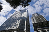 Two skyscrapers in Melbourne. Australia. — Foto de Stock