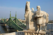 Monument of the first Hungarian king Ishtvav. — Stock Photo