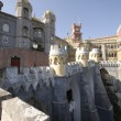 Palace Pena in town Sintra, Portugal - Stock Photo