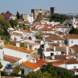 View of the medieval walled town of Obidos in western Portugal. — Stock Photo