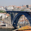 Bridge of Luis I over Douro river, Porto, Portugal. — Foto de Stock