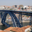 Bridge of Luis I over Douro river, Porto, Portugal. - Stok fotoğraf