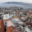 View of Istanbul city with roofs and Bosporus. Turkey. - Foto Stock