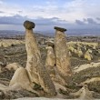Stock Photo: Amazing geological features near town Urgup, Cappadocia, Turkey.