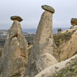 Amazing geological features near town Urgup, Cappadocia, Turkey. — Stock Photo