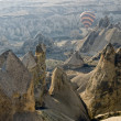 Hot Air Ballons flying on the sky of Cappadocia.Turkey. — Stock Photo