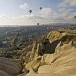 Hot Air Ballons flying on the sky of Cappadocia. Turkey. — Stock Photo #21687731