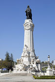 View of Lisbon with monument to marquise Pombal. Lisbon, Portuga — Stock Photo