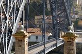 Ponte di luis i sui douro fiume, porto, portogallo. — Foto Stock