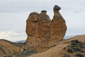 Amazing geological features in Dervent valley, Cappadocia, Turke — Stock Photo