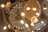 Błękitny Meczet wnętrza żyrandol. — Zdjęcie stockowe