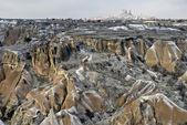 Formazioni di arenaria in cappadocia, turchia. — Foto Stock