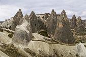Zandsteen formaties in cappadocië, turkije — Stockfoto