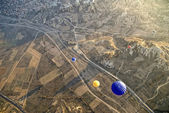 Hot Air Ballons flying on the sky of Cappadocia. — Stock Photo