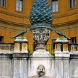 Stock Photo: Fir cone. It is located on VaticCourtyard. Vertical view.