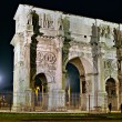 Night vie of Constantine arch , Rome, Italy. — Stock Photo
