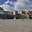 Постер, плакат: Panoramic view of San Francesco di Paola church Naples Italy