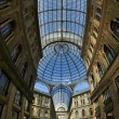 Shopping mall - italian style. Galleria Vittorio Emanuele II. Na - Stock Photo