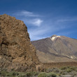 Volcano El Teide and Los Roques. Island Tenerife, Spain. — Stock Photo