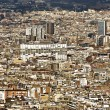 View of Barcelona looking from mount Montjuic. Spain. — Stock Photo