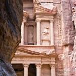 Facade of the Khasneh (Treasury) at Petra. Jordan. — Stock Photo #22030149
