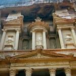 Facade of the Khasneh (Treasury) at Petra. Jordan. — Stock Photo #22030167