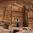 Stock Photo: Ruins in Petra, Jordan.