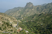 Valley at la Gomera island. Canary islands. Spain. — Stock Photo