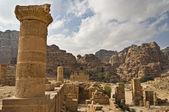 在佩特拉,约旦的废墟. — 图库照片