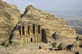 View of the Monastery Ad-Deir in Petra, Jordan. — Stock Photo