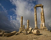 Ruins of citadel in Amman in Jordan. — Stock Photo