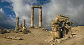 The Citadel in Amman in Jordan. — Stock Photo
