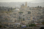 View of the old city from the mount of olives. Jerusalem, israel — Stock Photo