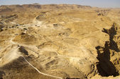 Looking west from the fotress of Masada. Israel. — Stock Photo