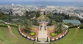 Vista de haifa com os jardins bahai. israel. — Foto Stock