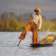 Fisherman, Inle lake, Myanmar (Burma) — Stock Photo #43068865