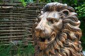 Bronzová socha lva — Stock fotografie