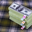 Dollars and planning costs — Stockfoto