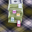 Accumulation of dollars — Stockfoto