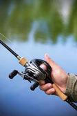 Modern fishing tackle — Stock Photo