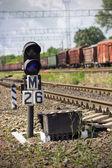 Semaphore on railway — Stock Photo