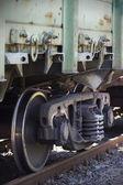 Railway wagon parked — Stock Photo