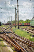 Part of the railway freight — Stock Photo