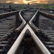 Railroad going into the sunset — Stock Photo #51329413