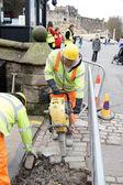 Strada, lavori di riparazione — Foto Stock